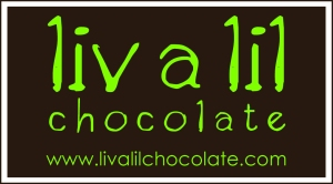 liv a lil chocolate logo with website